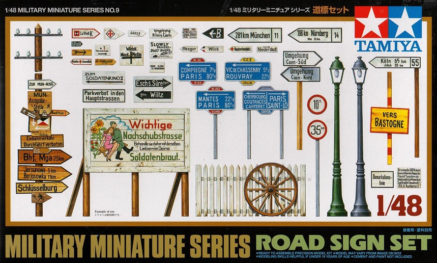 Náhľad produktu - 1:48 Road Sign Set