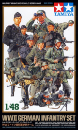 1:48 WWII German Infantry Set