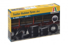 1:24 Trailer Rubber Tyres (8 ks)