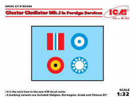 1:32 Decal for Gloster Gladiator Mk.I in Foreign Services