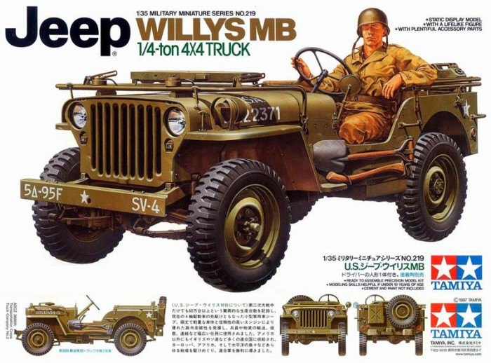 Náhľad produktu - 1:35 Jeep Willys MB