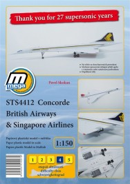 1:150 Concorde British Airways & Singapore